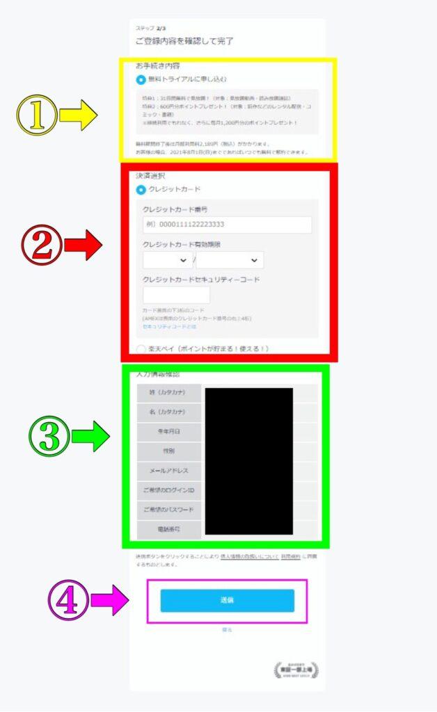 U-NEXT31日間無料トライアルの登録方法